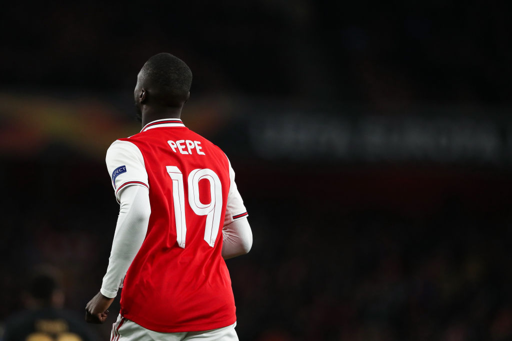 Arsenal's Nicolas Pepe earns place in Europa League Team of the Week